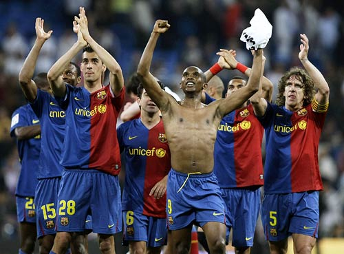 Barcelona celebrate big win