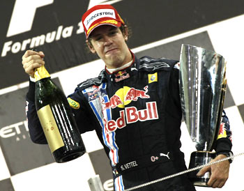 Red Bull's Sebastian Vettel won the first Abu Dhabi F1 Grand Prix on Sunday