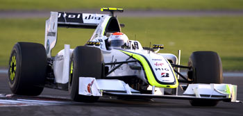 Brawn GP's Rubens Barrichello manouvers his car during the Abu Dhabi GP on Sunday