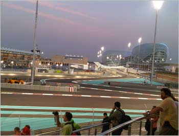 The YAS Marina in Abu Dhabi, the newest venue on the Formula 1 circuit.