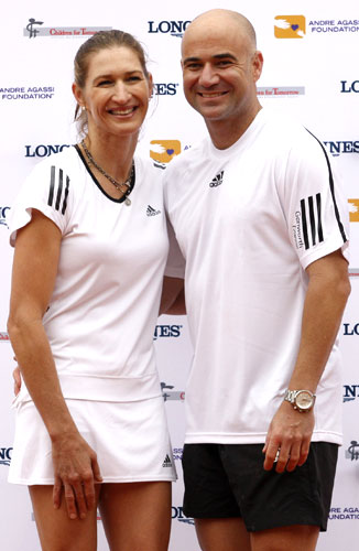 Andre Agassi with wife Steffi Graf