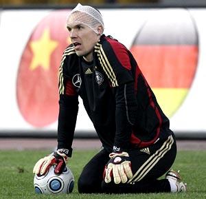 Germany and Hanover 96 goalkeeper Robert Enke