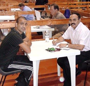 Akhil Kumar (left) with Col P K Muralidharan Raja, secretary general of the Indian Boxing Federation