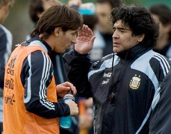 diego maradona and messi