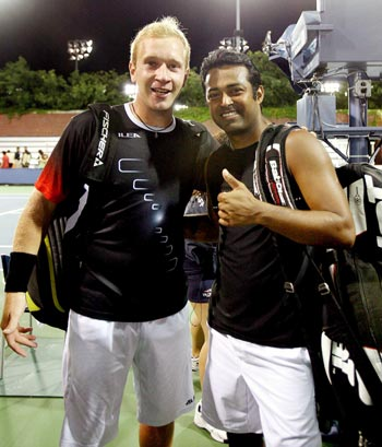 Lukas Dlouhy and Leander Paes