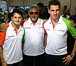 Fisichella, Mallya and Sutil