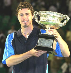 Marat Safin clinched the Australian Open title in 2005