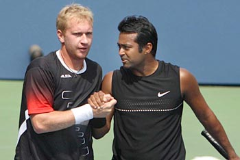Leander Paes and Lukas Dlouhy