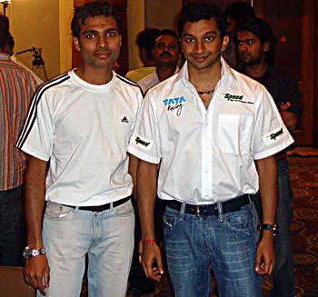 Irfan Kazi with Narain Karthikeyan