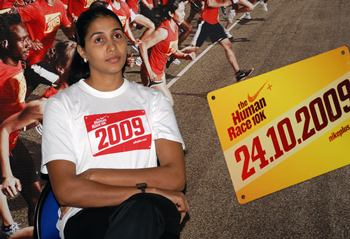 Anju George at the Nike event launch