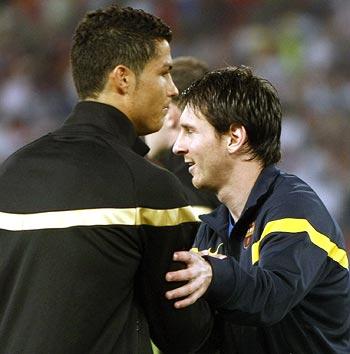 messi vs ronaldo real madrid. Cristiano Ronaldo and Lionel