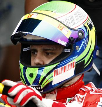 Felipe Massa drives a kart at a circuit outside Sao Paulo