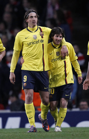 Zlatan Ibrahimovic and Lionel Messi