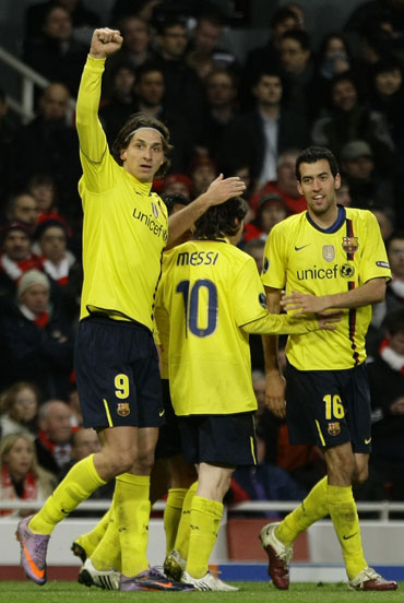 Ibrahimovic celebrates after scoring
