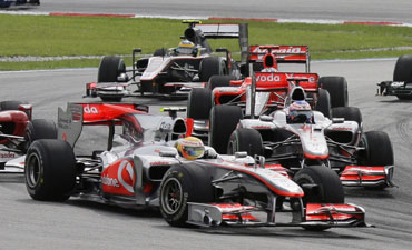 McLaren leads the way at Malaysian GP