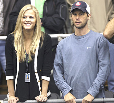 Andy Roddick's wife Brooklyn Decker and coach Larry Stefanki