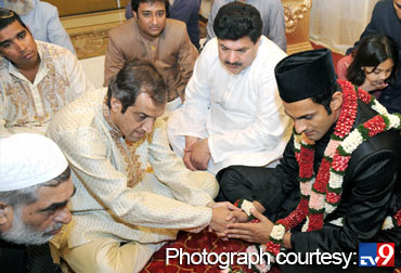 Imran Mirza with his son-in-law