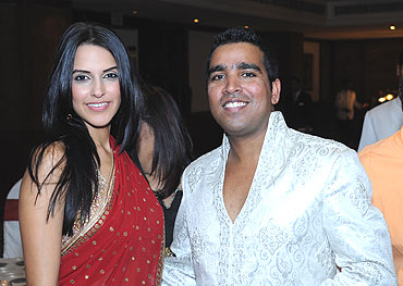 Neha Dhupia with Sania's friend Manzy