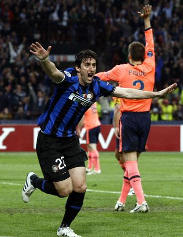 Diego Milito scored Inter's third goal