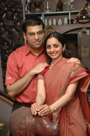 Viswanathan Anand and Aruna Anand
