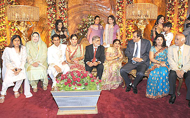 sania's wedding reception in sialkot