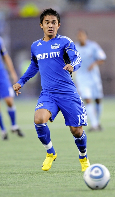 Sunil Chhetri in Kansas City Wizards colours