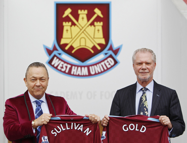 David Gold and David Sullivan, co-owners of West Ham United