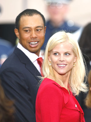Tiger Woods and EElin Nordegren