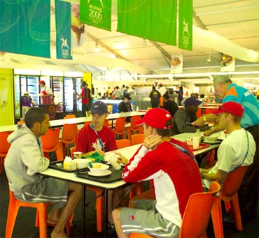 A view of the dining area at the Melbourne CWG. Delhi has set a higher benchmark for itself