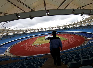 The refurbished Jawaharlal Nehru Stadium in New Delhi