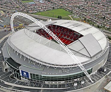 The Wembley stadium in London