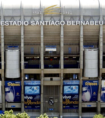 The Santiago Bernabeu stadium in Madrid