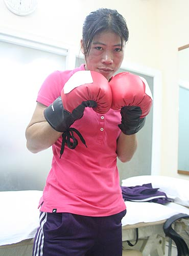 MC Mary Kom undergoes physical testing session at the Physiohealth Pain Management and Performance Enhancement Centre in Mumbai