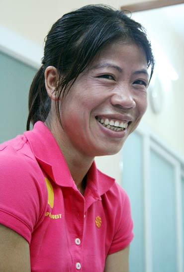 Rediff Sports - Cricket, Indian hockey, Tennis, Football, Chess, Golf - Mary Kom denies deriding remarks against fellow boxers