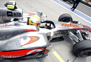 Lewis Hamilton in his McLaren