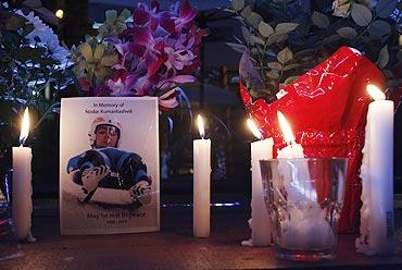 A site in Whistler, British Columbia, where a memorial for Georgian athlete Nodar Kumaritashvili was held on February 13 2010