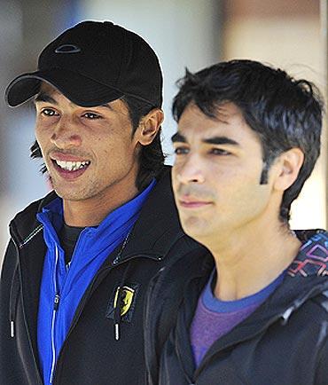 Salman Butt (right) with Muhammad Amir