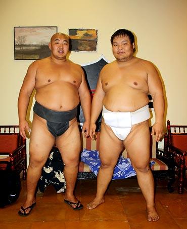 Byambajav Ulambayar (left) and Naranbat Gankhuyag