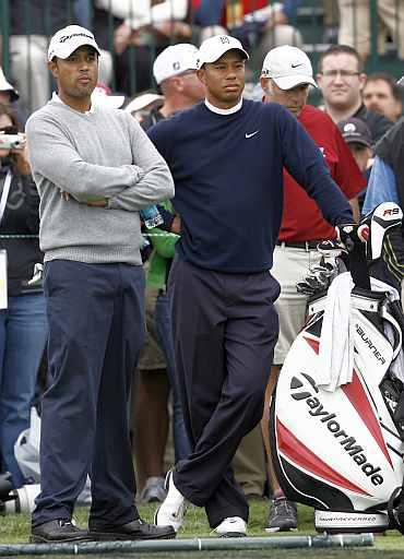 Arjun Atwal and Tiger Woods