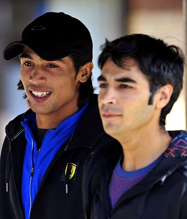 Salman Butt (right) and Mohammad Amir