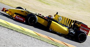 Renault driver Robert Kubica