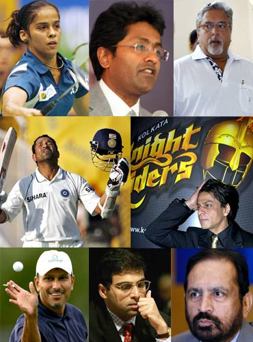 Business tycoons elbow out sports stars