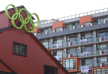A view of the Athletes Village for the 2010 Winter Olympics in  Vancouver