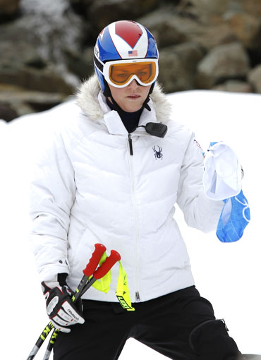 American downhill skier Lindsey Vonn