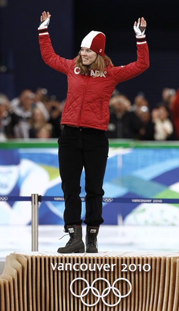 Canada's Nesbitt celebrates after winnning