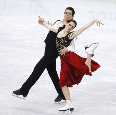 Tessa Virtue, Scott Moir participate in the ice dance event
