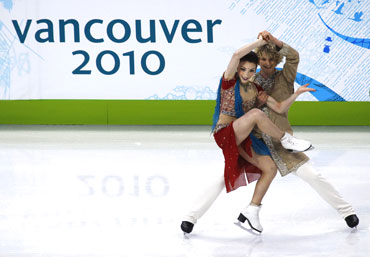 Davis and White of the US perform during the ice dance original dance figure skating competition