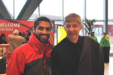 World Cup Sid with Arsene Wenger