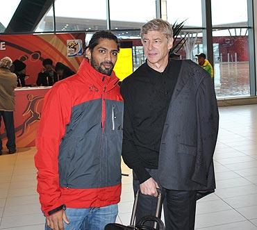 Siddhanta Pinto and Arsene Wenger