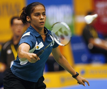 Saina Nehwal in action